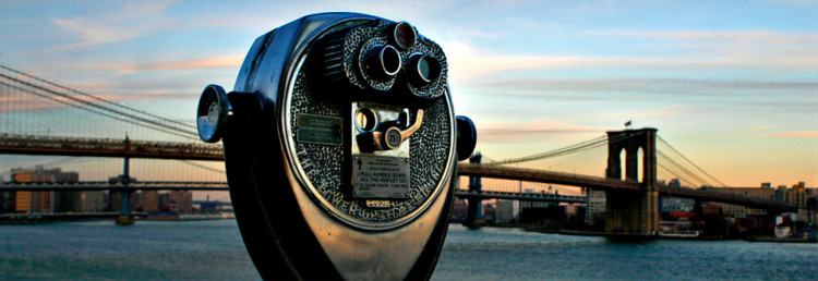 Viewer by Brooklyn Bridge, New York