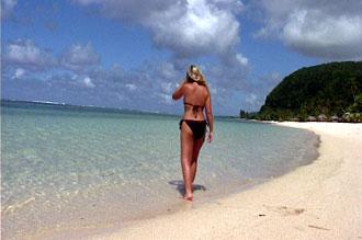 Strand på Samoa