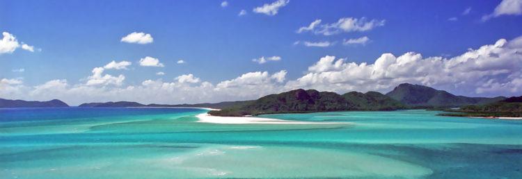 Whithaven beach och Manta Ray Bay