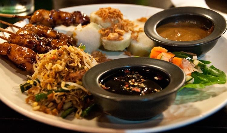 Chicken Satay på Cafe Batu jimbar, Sanur Bali