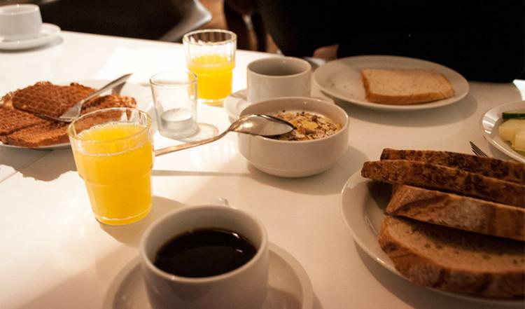 Frukost på Hotel Arnarhvoll, Reykjavik