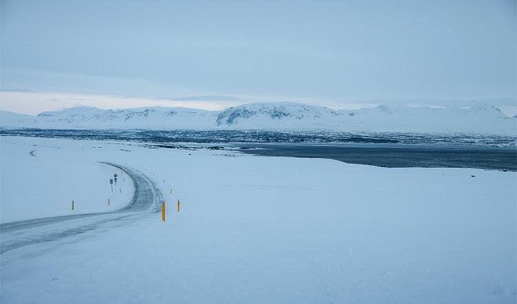 Þingvellir National Park och Tingvallavatn från väster, Island
