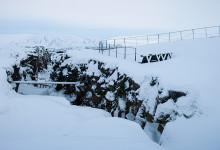 Klyftan skapad av kontinentalplattorna vid Tingvalla Island