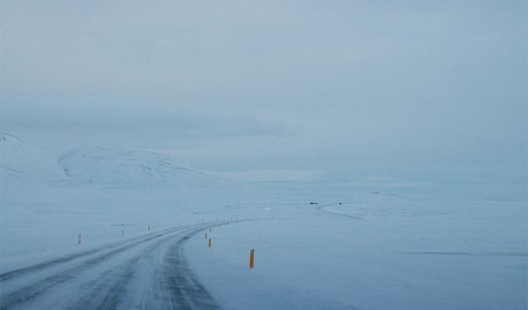 Vinterväg på Island