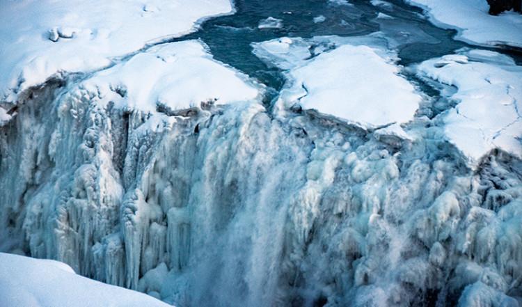 Gullfoss, fruset vattenfall på Island
