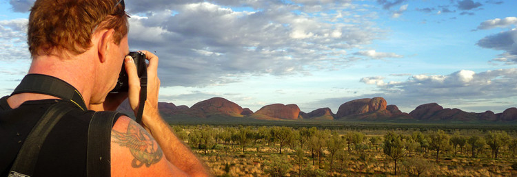 Australia runt 2008, Lasse fotograferar The Olgas aka Kata Tjuta