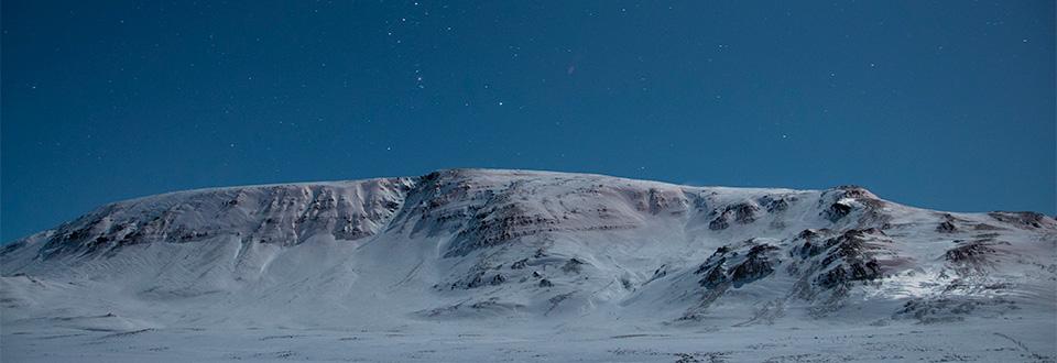 Stjärnklar vinternatt, Island 2012