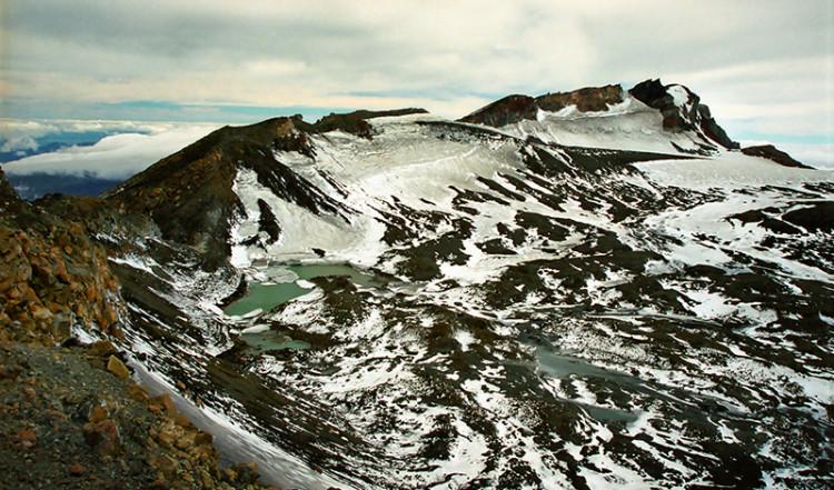 Vulkan landskap, Mt Ruapehu Crater climb