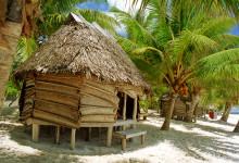 Hyddor vid stranden på Tanu Beach Fales, Samoa
