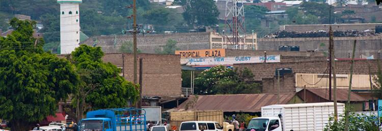 Stadsliv i Narok, Kenya