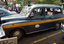 Gammal taxi i Nairobi centrum, Kenya