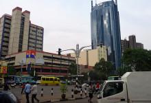 Mitt i Nairobi centrum, Kenya