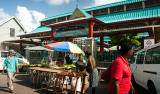 Besök i Victoria centrum, Mahé Seychellerna