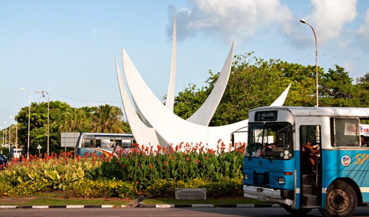 Rondell vid bicentennial monument, Victoria Seychellerna