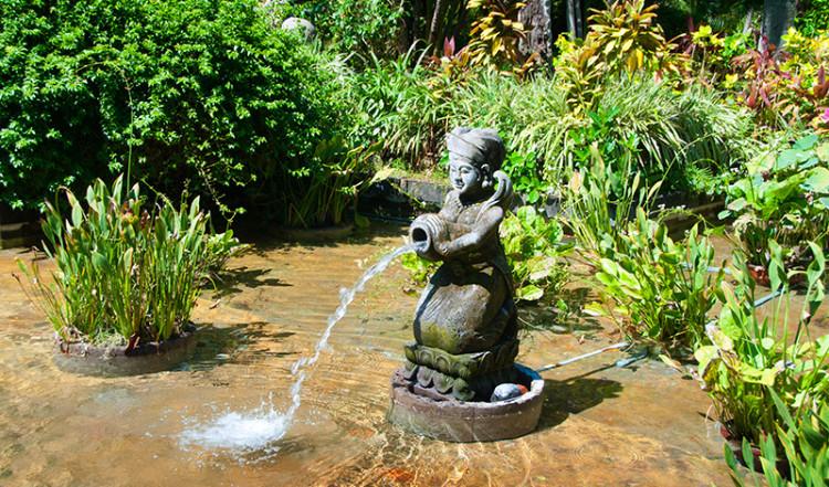 Fontän vid Hyatt Hotel, Sanur Bali