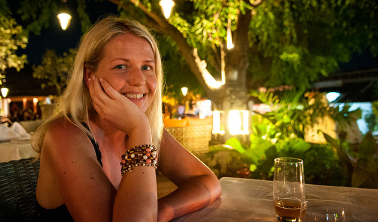 Anki på Ares Resto and Lounge, Sanur Bali