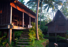 Sen eftermiddag vid Padi House, Bambu Indah Ubud