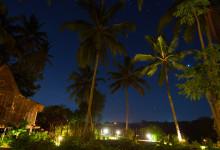 Stjärnklart över Bambu Indah i Ubud, Bali