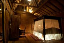 Sovrum med belysning under sängen, Padi House Bambu Indah, Ubud