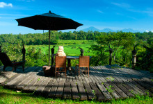 En fantastisk utsiktplats på Bambu Indah, Ubud Bali