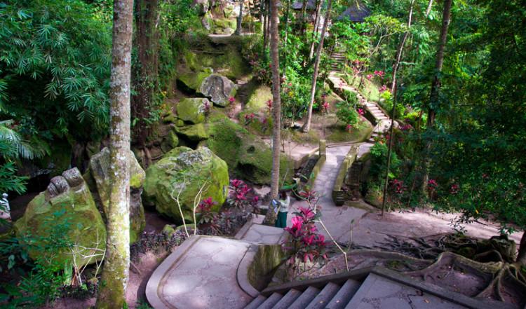 Dalgång i Goa Gajah, Elefant grottan i Ubud, Bali