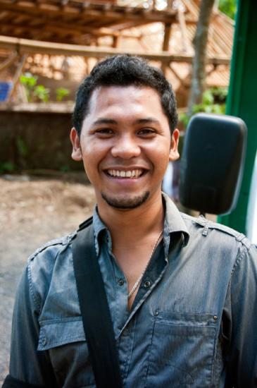 Vår chaufför runt Ubud