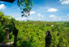 Utsikt vid Bambu Indah, Ubud Bali