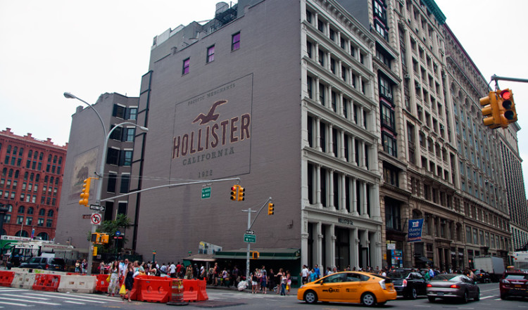Hollister Wall, Houston and Broadway, SoHo New York