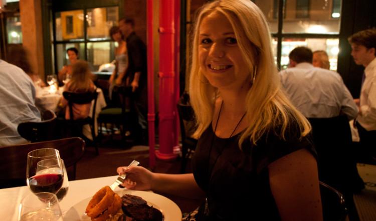 Anki på Tribeca Grill i New York City
