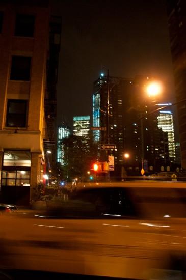 Kväll längs Greenwich Street, Tribeca New York
