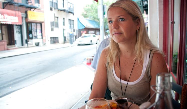 Anki på Cornelia Street Café, West Village New York