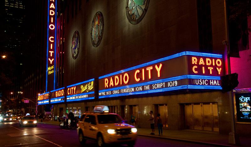 Radio City Music Hall at Rockefeller City, New York