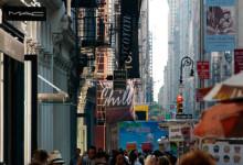 Broadway shoppingstråk i SoHo, New York City