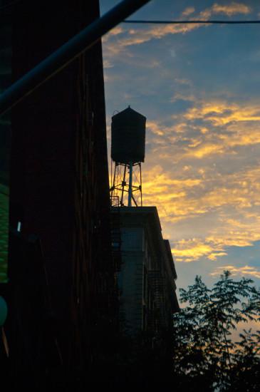 Solnedgång i Nolita New York