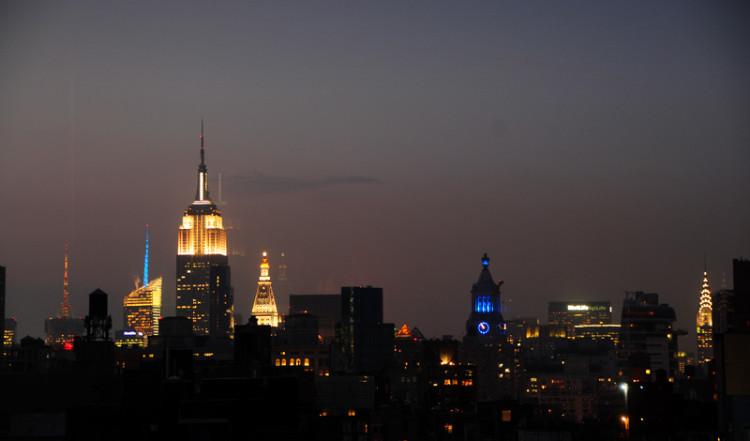 Skymning över New York