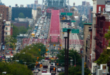 Williamsburg Bridge från Nolitan Hotel, New York