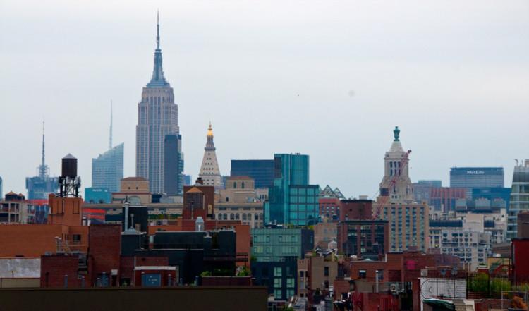 Stadsvy från svit på Nolitan Hotel, New York