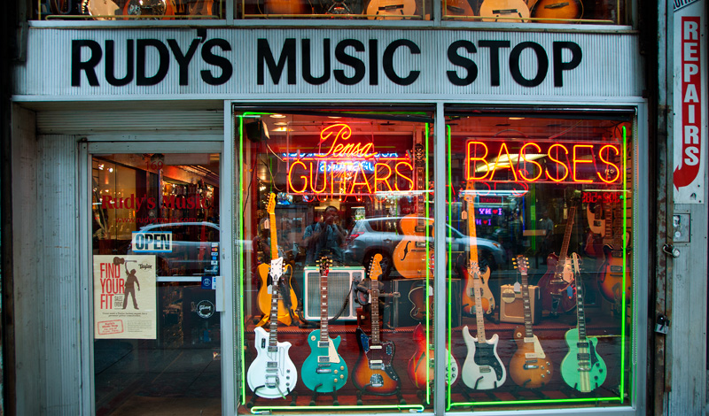 Rudys Music Stop, 169 West 48th Street, New York