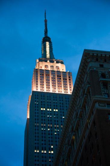 Kväll vid Empire State Building, New York