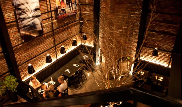 Tartinery Restaurant en trappa ner, Nolita New York