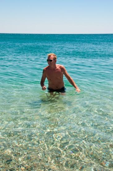 Lasse tar ett dopp, Punta Chullera