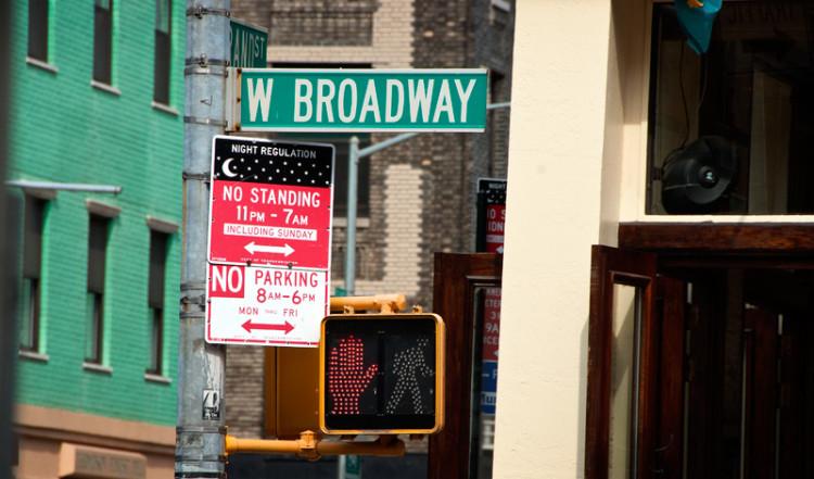 West Broadway skylt, SoHo New York