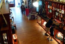 Rudys Music, boutique gitarr affär i SoHo, New York City