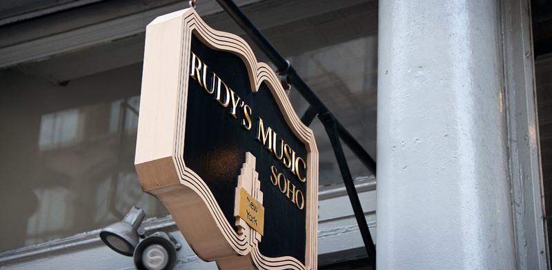 Rudys Music i SoHo, New York City