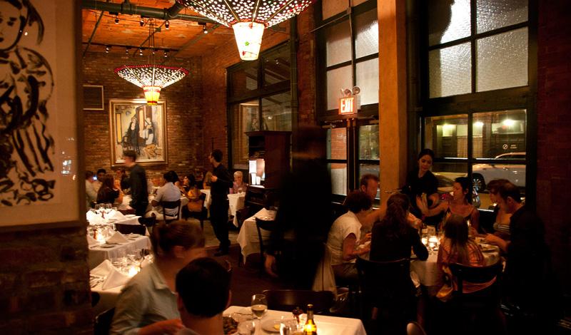 Tribeca Grill i TriBeCa området av södra Manhattan, New York