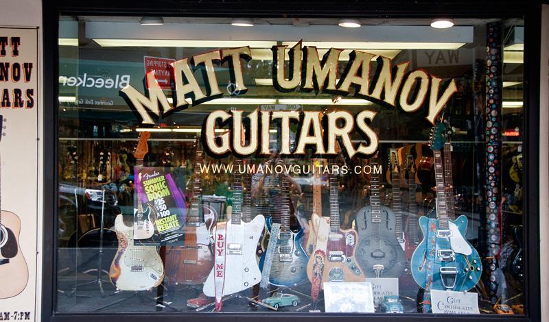 Matt Umanov Guitars on Bleeker, West Village New York