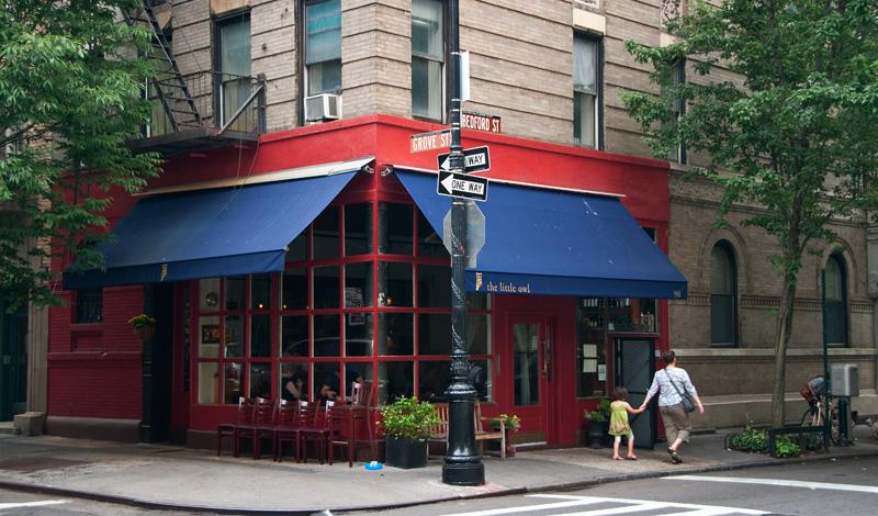 Vännerhuset med Central Perk på Bedford och Grove Street i West Village