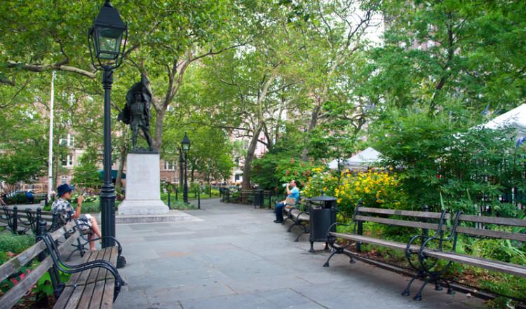 Abingdon Square i West Village, New York City