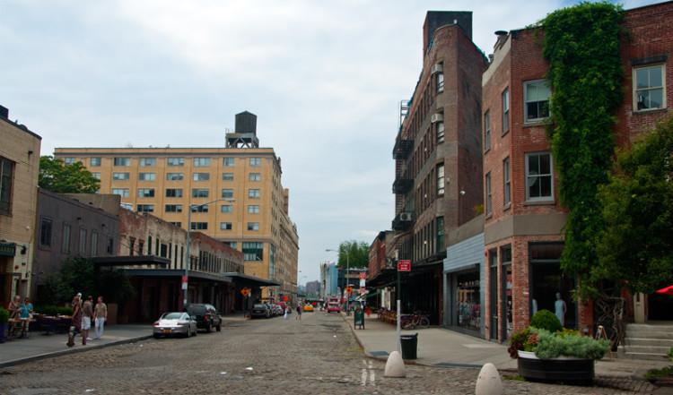 Gansevoort Street från 9th Avenue, MeatpackingDistrict NYC