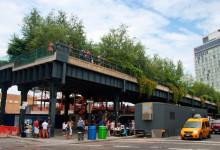 High Line slut vid Meatpacking District i New York